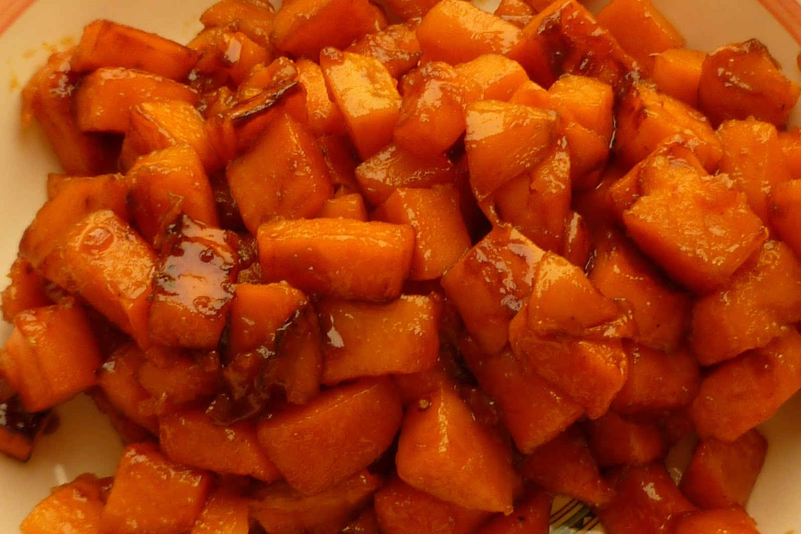 Caramelized Sweet Potatoes - made August 27, 2013 from MarthaStewart ...