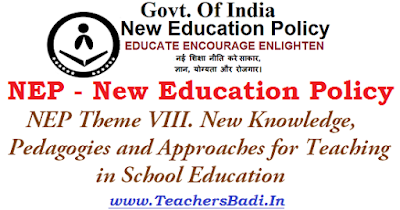 NEP,New Knowledge, Pedagogies,Approaches for Teaching