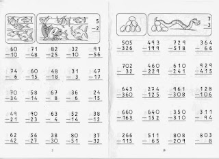 atividades de matemática subtração