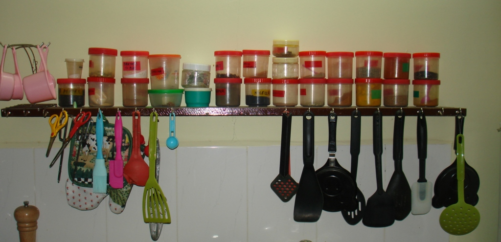 Spoon Hanger And Spice Rack