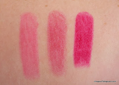 Swatches of ULTA Super Shiny Lip Butters in  NYC, London, and Milan