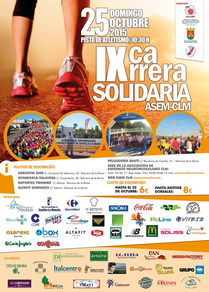 IX Carrera Solidaria ASEM en Talavera de la Reina
