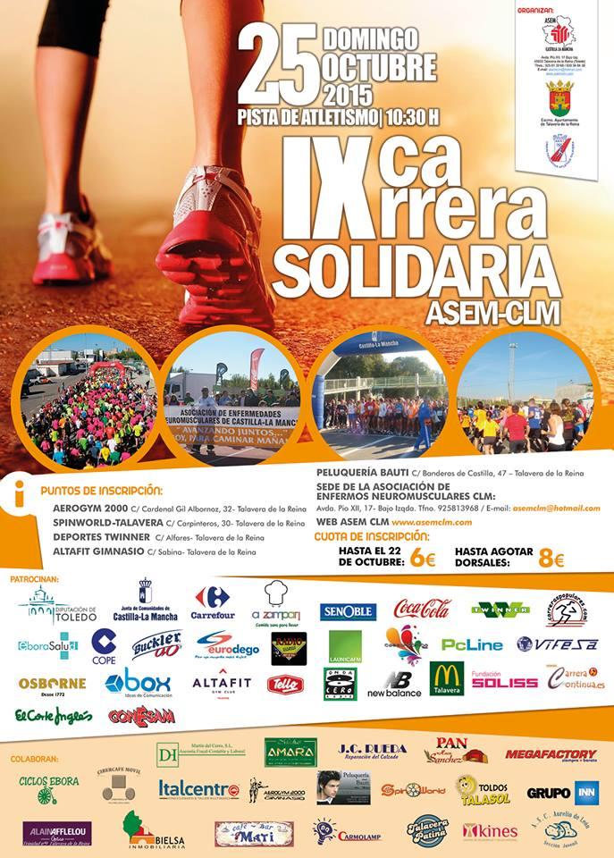 IX Carrera Solidaria ASEM en Talavera de la Reina