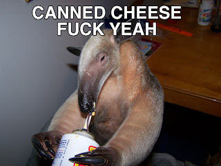 funny anteater canned cheese fuck yeah