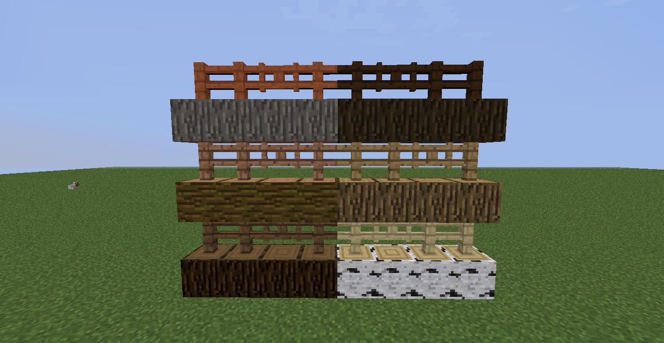 Minecraft en txt snapshot 14w32d puertas y vallas de todos los tipos de madera minecraft 1 8 - Tipos de vallas ...