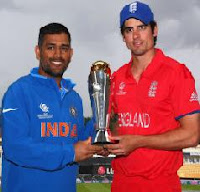 India vs England One Day International Live Streaming Cricket Score ICC Champions Trophy 2013 Final Online Sky Sports HD.