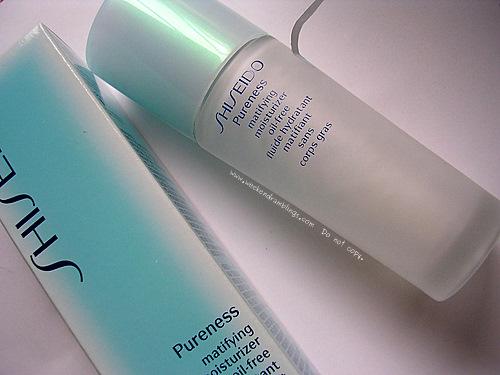shiseido pureness oil free mattifying powder moisturizer oily skin reviews ingredients