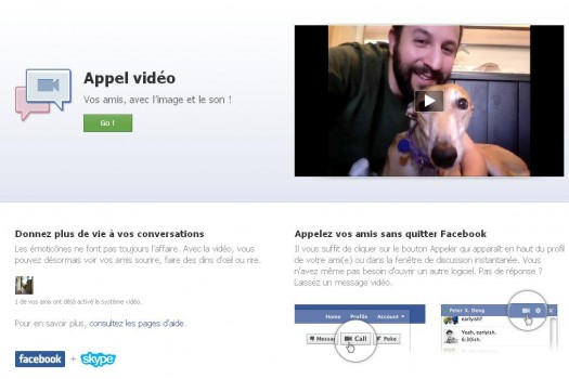 Appel vidéo de Facebook