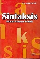 toko buku rahma: buku SINTAKSIS SEBUAH PANDUAN PRAKTIS, pengarang sukini, penerbit yuma pustaka