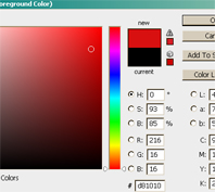 warna background foto aslinya dengan cara pilih color picker pada tool