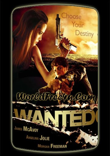 Poster Of Wanted 2008 Full Movie In Hindi Dubbed Download HD 100MB English Movie For Mobiles 3gp Mp4 HEVC Watch Online