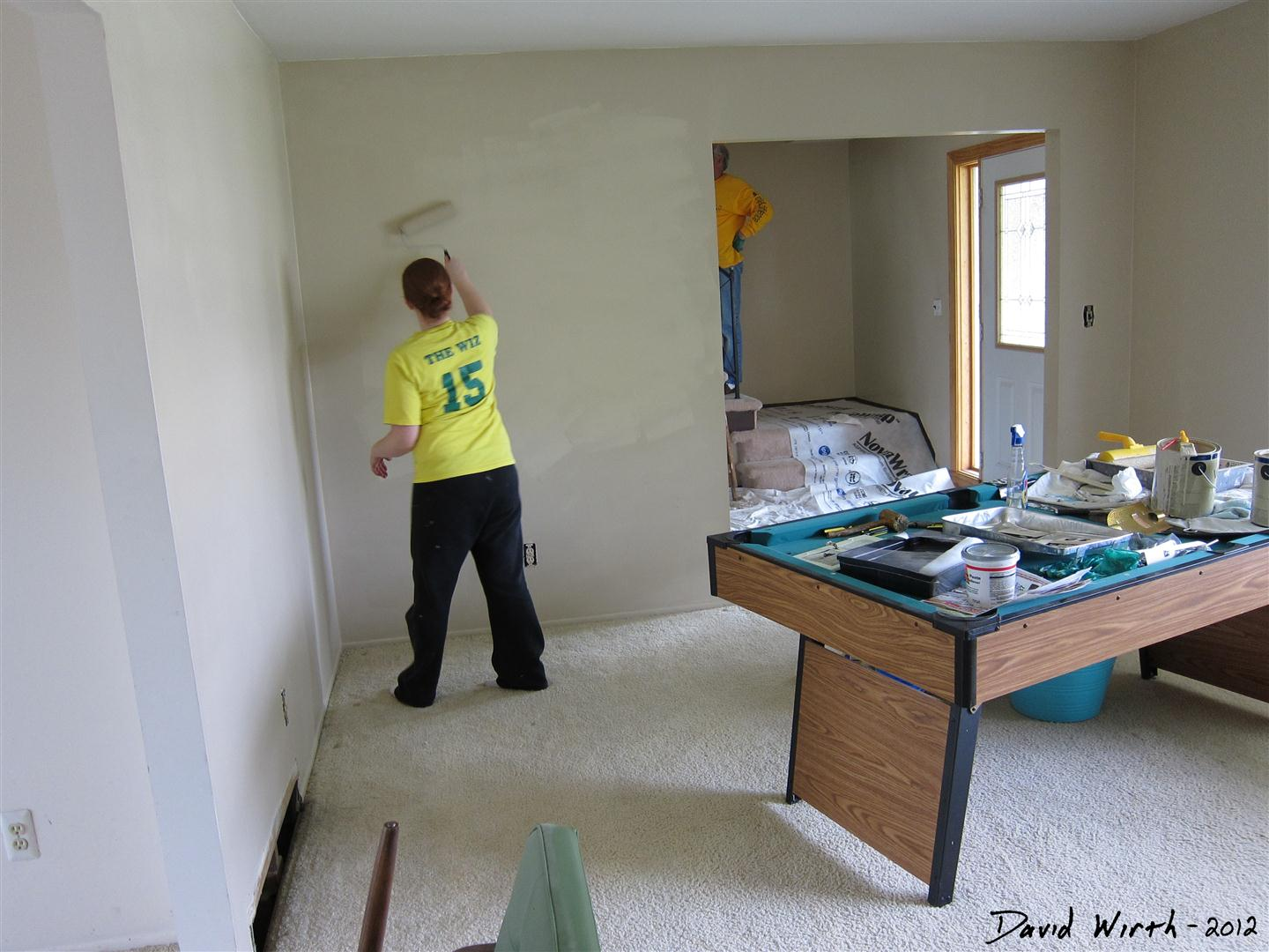 Painting the Livingroom