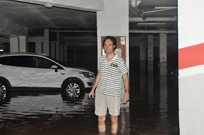 pàrquing inundat lleida