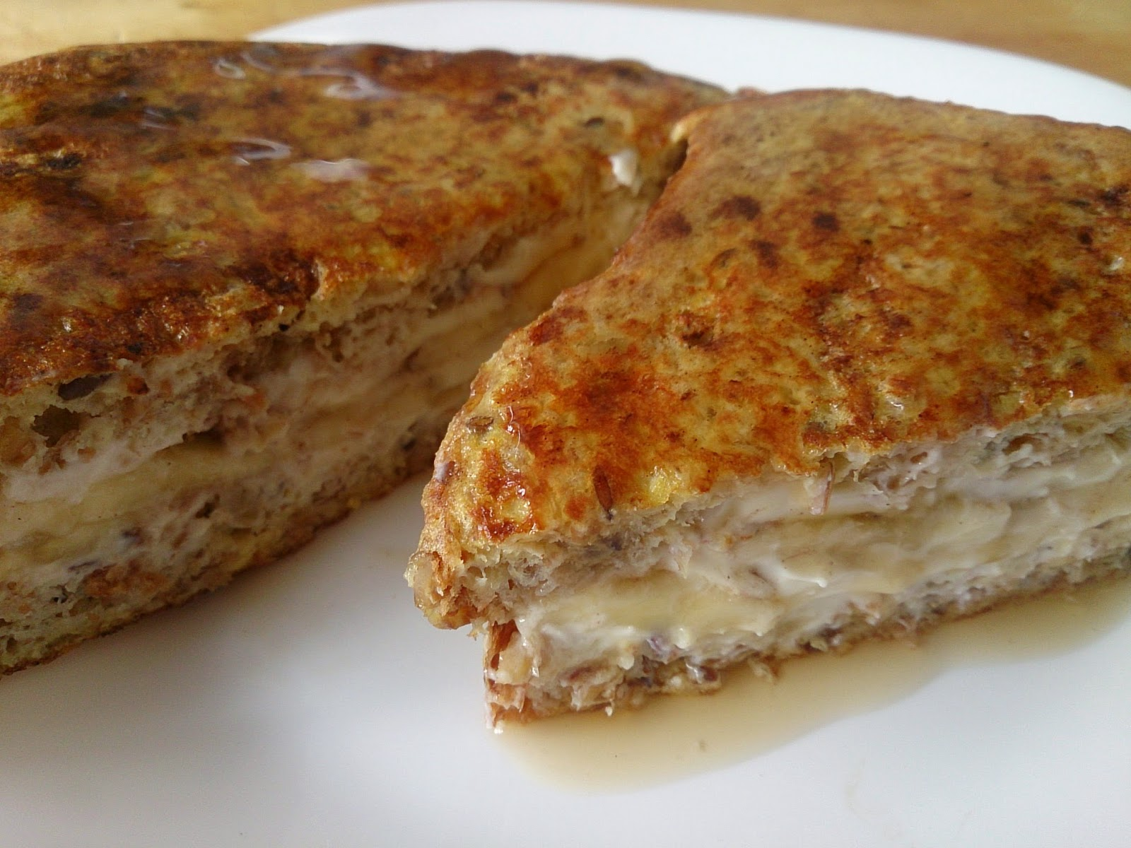 Suzanne's Kitchen : Banana stuffed French toast Simply Filling