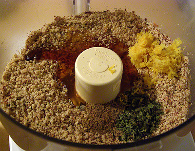 Honey Dukkah Fish Topping Mix Before Food Processing
