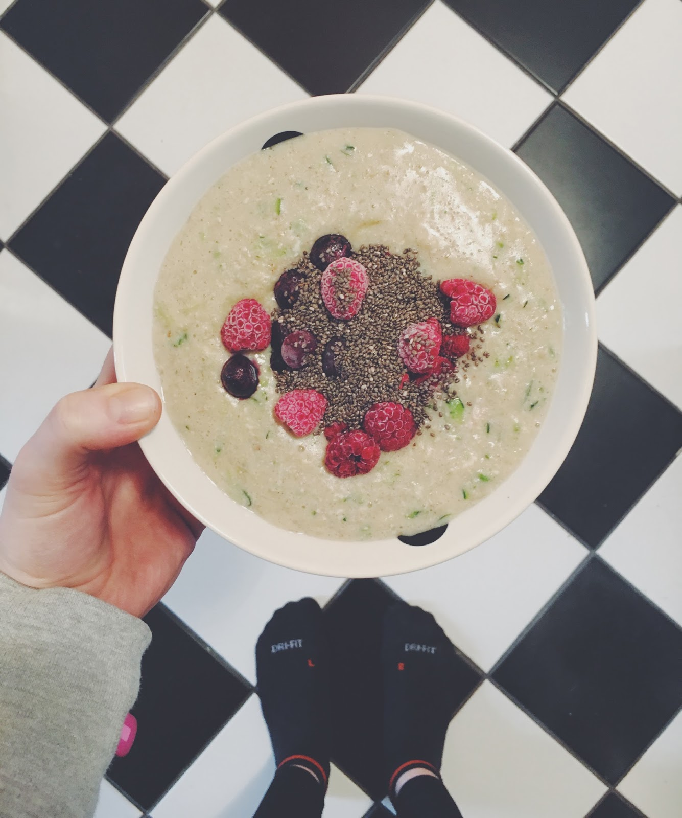 Protein Zoats Courgette Porridge with whey protein