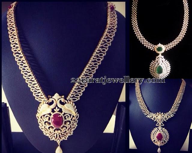 Diamond Sets with Detachable Lockets