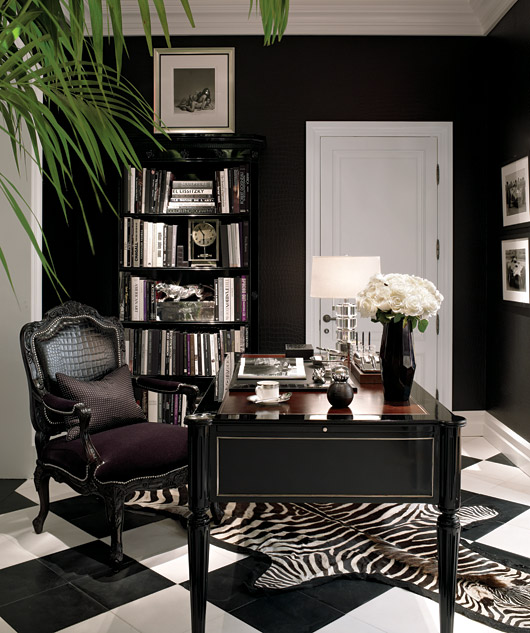 Ralph Lauren Black And White Offices Spaces Black White White Office Offices Ideas Home: pinterest home decor black and white