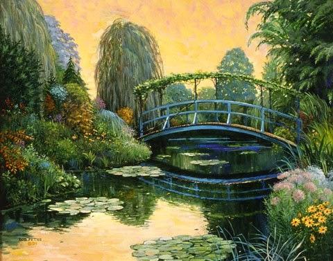 Monet Garden III by Bob Pettes