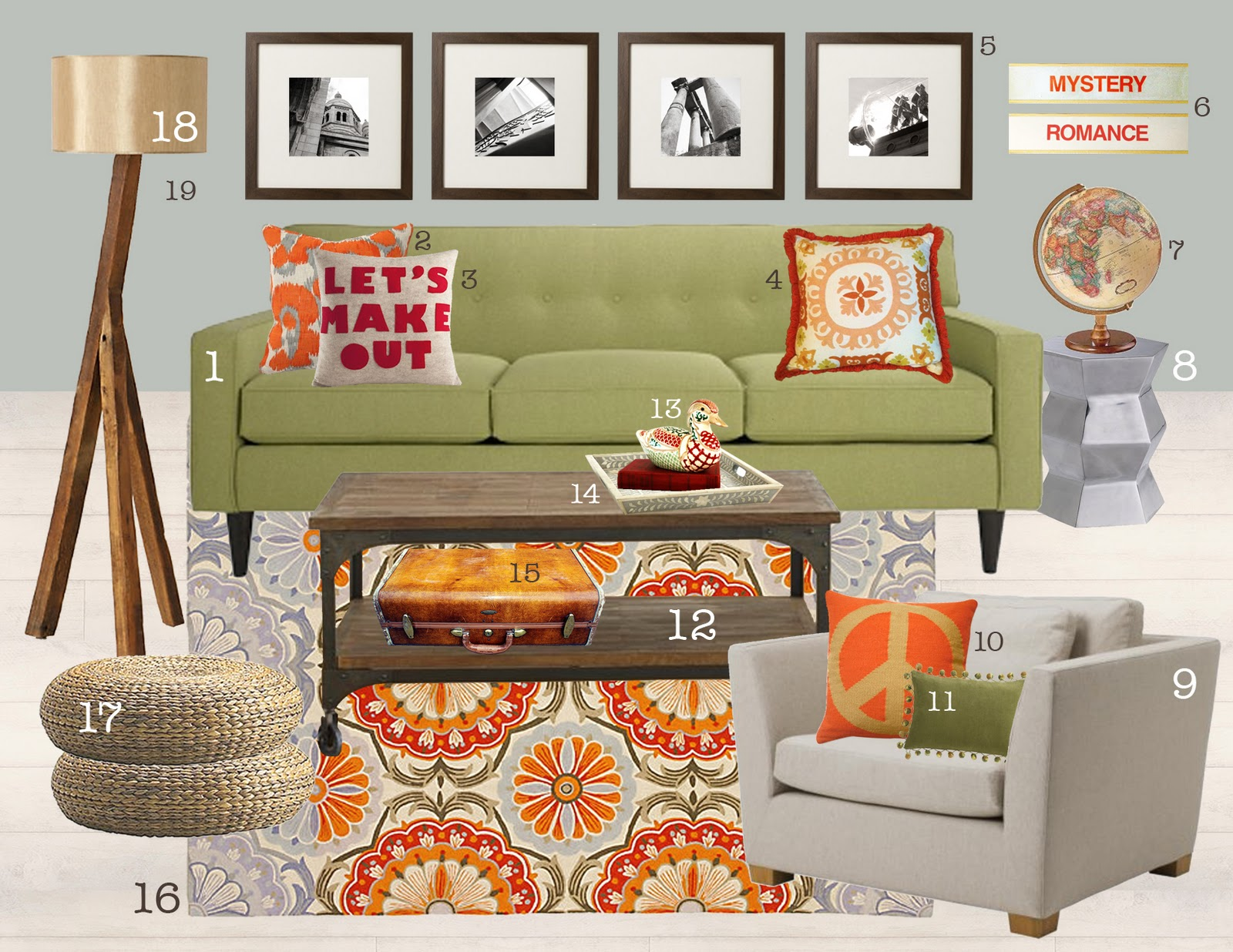 300 Sunny Days 20 items or less an autumn inspired living room