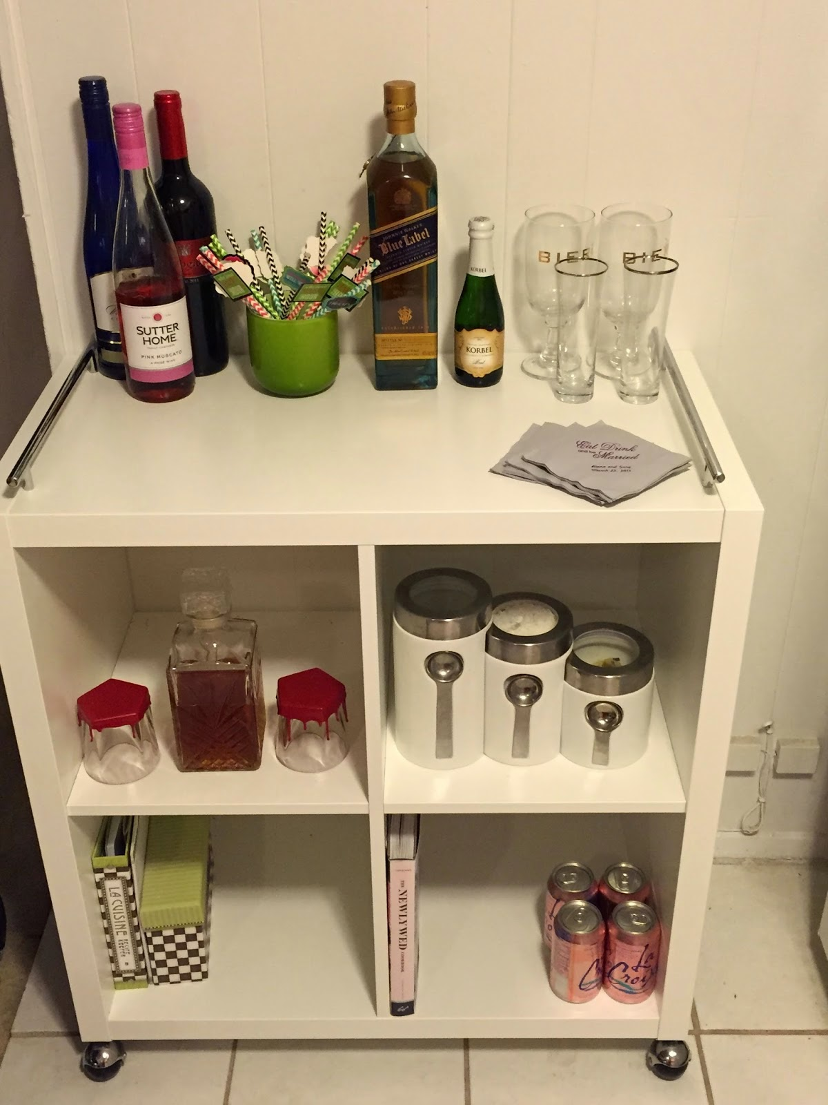 DIY Ikea Bar Cart