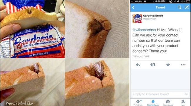 Open Letter About an Insect Found on Gardenia Loaf Bread Went Viral