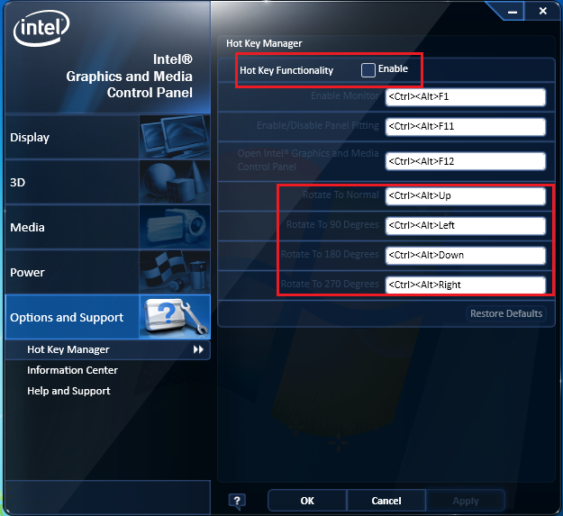 how to change used graphics windows 7