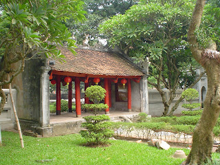 Temple of literature courtyard in Hanoi, Vietnam