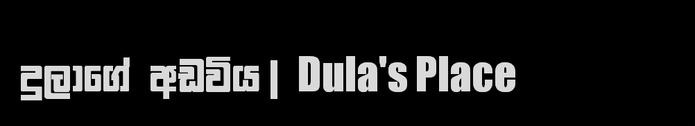 දුලාගේ අඩවිය | Dula's Place