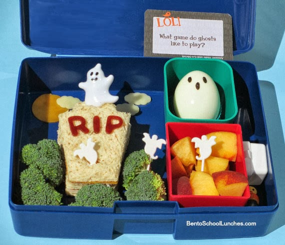 Ghosts In Graveyard Halloween Bento