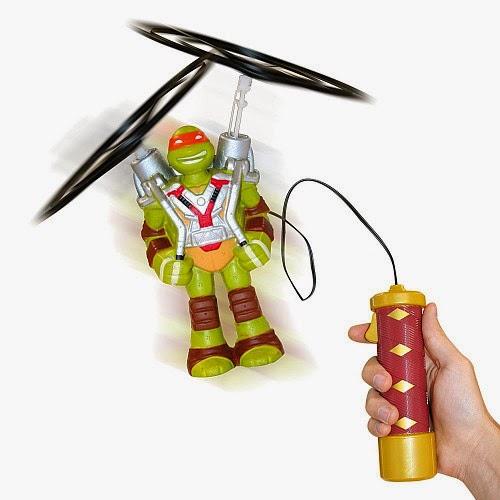 JUGUETES - TORTUGAS NINJA : Ninja Turtles Figura Voladora Mike | Muñeco | Michelangelo | Mikey  Producto Oficial | Giochi Preziosi 91613 | A partir de 4 años