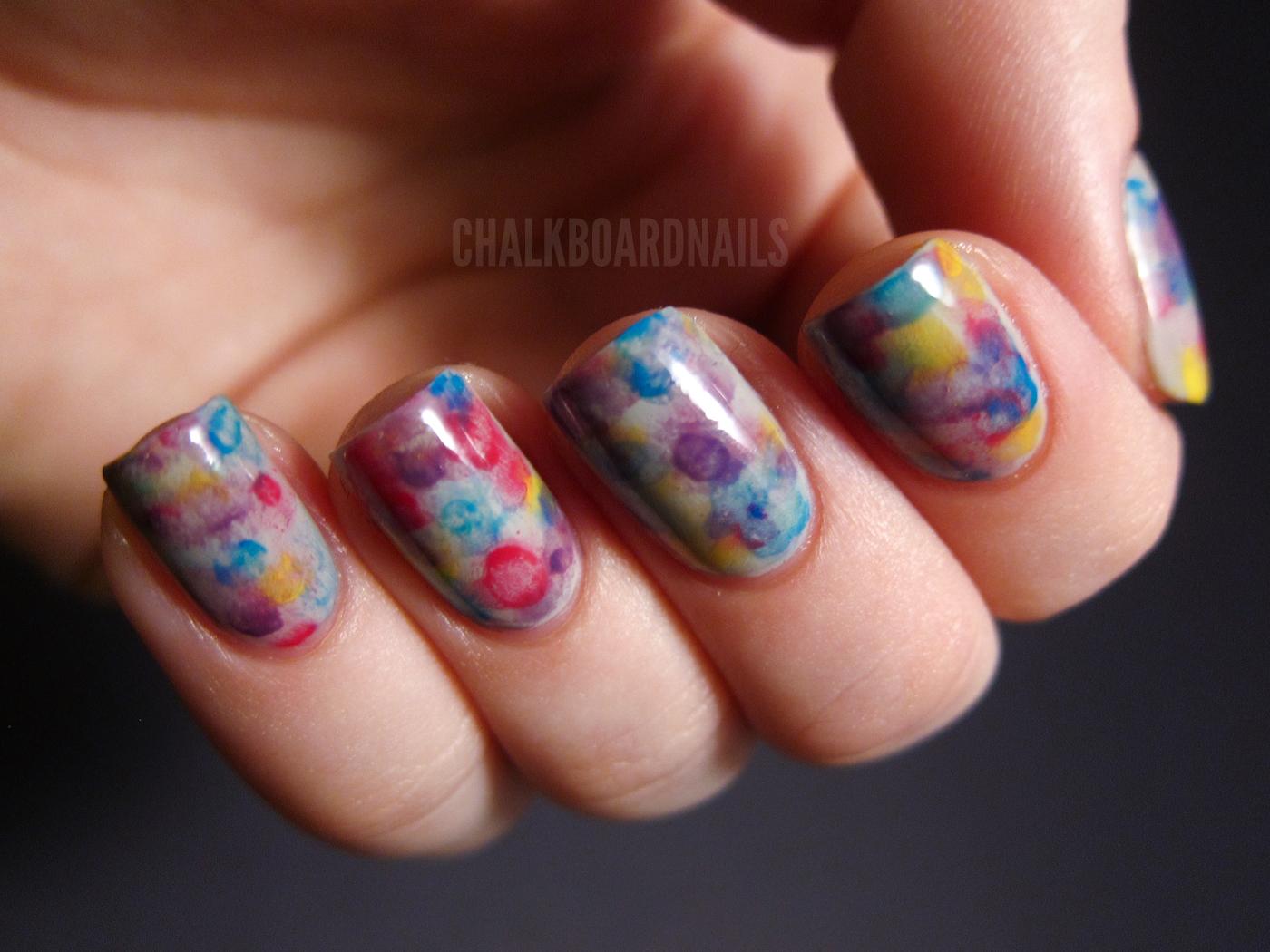 Watercolor nails chalkboard nails nail art blog watercolor nails prinsesfo Gallery