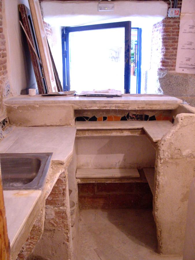 Supermanitas una de cal y una encimera for Como se hace el marmol