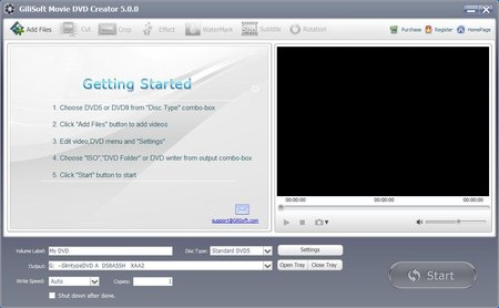 GiliSoft Movie DVD Creator 5.5.0