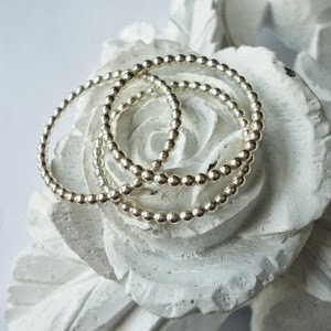 Stacking Ring by Crystal and Stone