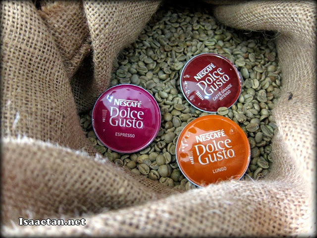 The colourful capsules used in the Dolce Gusto machines to make your favourite beverage