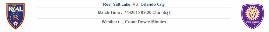 Real Salt Lake vs Orlando City link vào 12bet