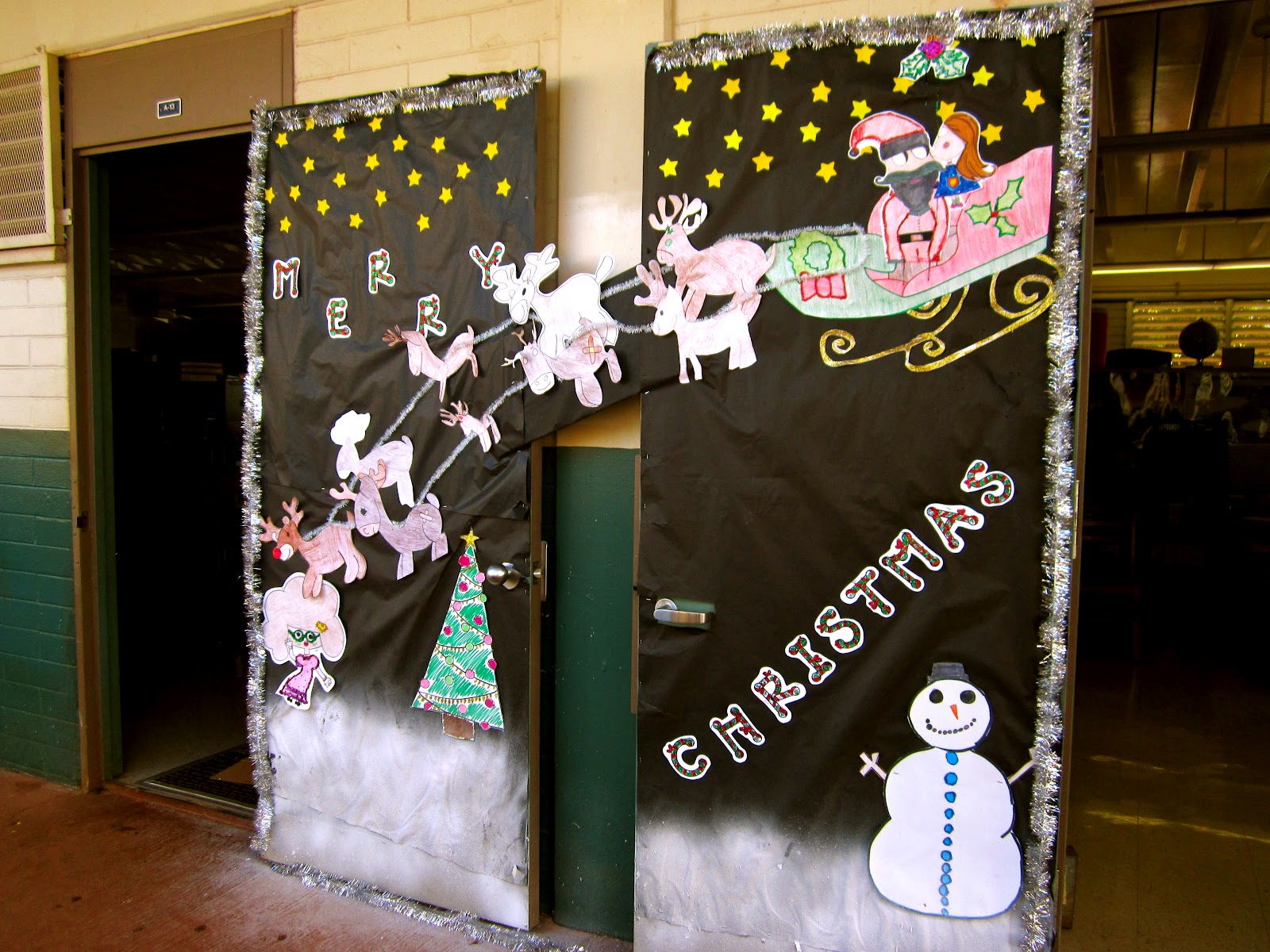 homeroom p2 completed an unprecedented sweep this year not only taking the halloween but also the xmas door decorating contest as well well done p2