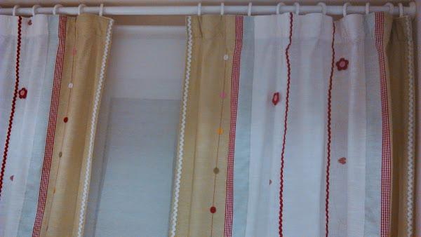 Como hacer cortinas de tela for Cortinas de argollas