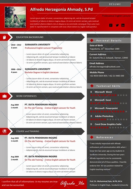 resume layout word 2010