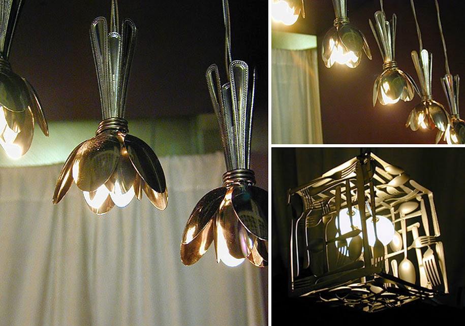 decoracao de interiores faca voce mesmo:Luminárias de Engrenagens de Bicicleta: