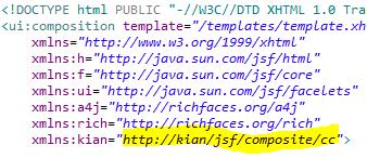 using the custom namespace