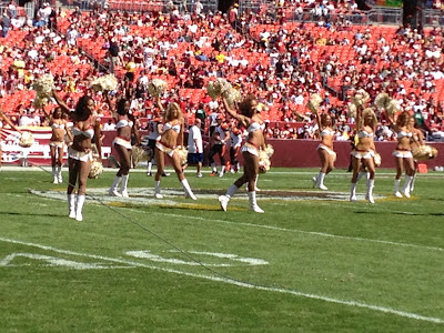Washington Redskins cheerleaders before gametime