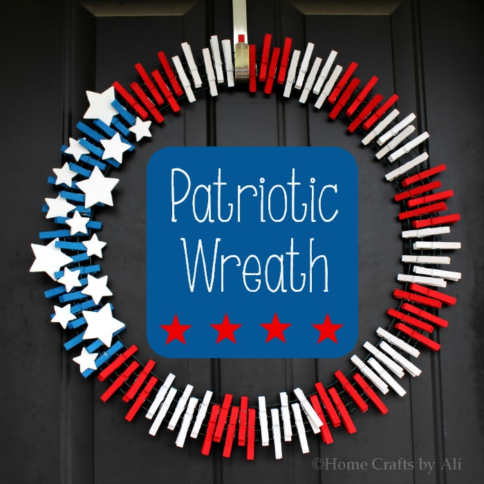 Patriotic wreath home crafts by ali for Americana crafts to make