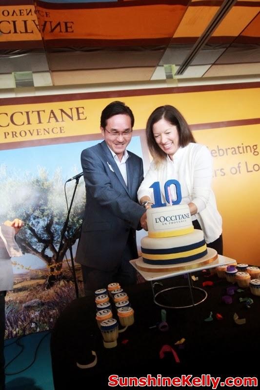 L'OCCITANE Malaysia 10th Anniversary, True Provencal Inspiration, L'OCCITANE Malaysia, Anniversary, Cake Cutting Ceremony, Tan Seong Teck, Nancy Ferriman