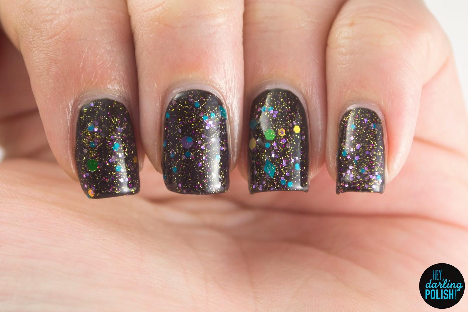 brown, anybody want a peanut?, nails, nail polish, polish, indie, indie polish, indie nail polish, glitter, swatch, hey darling polish, northern star polish
