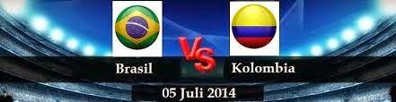 Perkiraan Skor Pertandingan Fase 16 Besar World Cup 05 Juli 2014, Brasil vs Kolombia