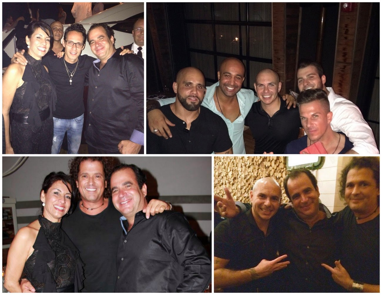 Celebrities in Miami: Marc Anthony, Pitbull and more at Seasalt and Pepper‏
