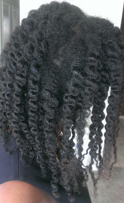 twist out on stretched hair