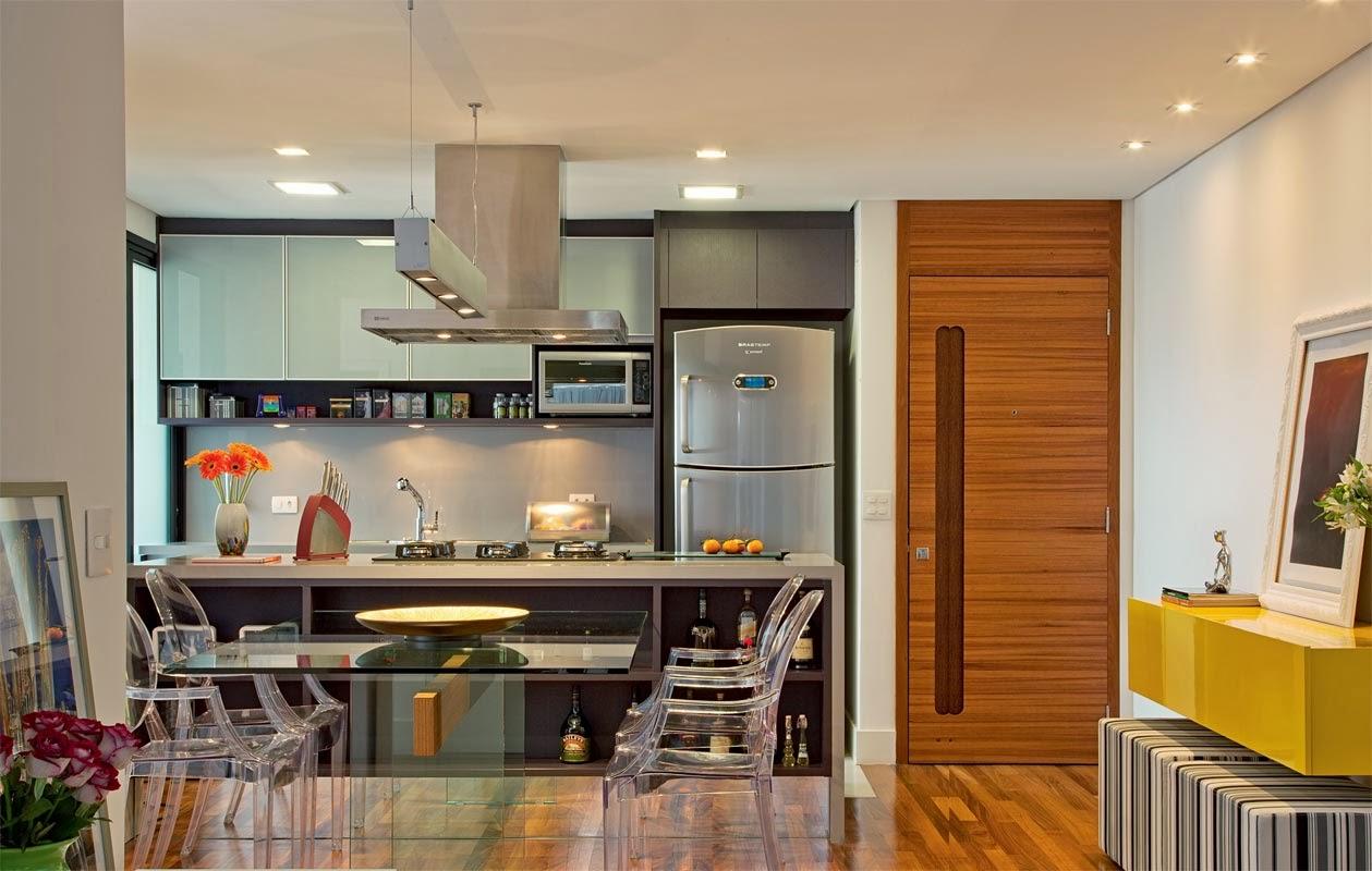 Renata Ortiz Interior Design: Decoração de cozinha americana. #B57C16 1259 800